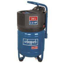 Scheppach HC 24 V vertikális kompresszor, olajmentes, 24L, 10bar, 1.5kW, 230V