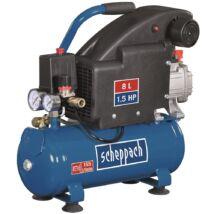 Scheppach HC 08 kompresszor, olajkenésű, 8L, 8bar, 1.1kW, 230V