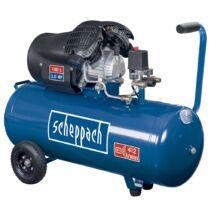 Scheppach HC 100 DC kéthengeres kompresszor, olajkenésű, 100L, 8bar, 2.2kW, 230V