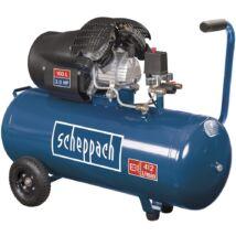 Scheppach HC 120 DC kéthengeres kompresszor, olajkenésű, 100L, 10bar, 2.2kW, 230V