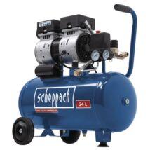 Scheppach HC 24 Si kéthengeres kompresszor, olajmentes, 24L, 8bar, 550W, 230V
