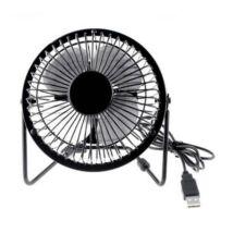 Asztali ventilátor, USB, fekete, 10cm, 2.5W
