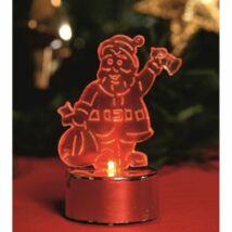 LED-es mécses dekoráció, Mikulás