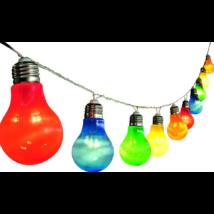 LED-es izzósor, körte alakú, színes, 10db-os, 230V