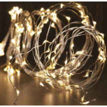 LED-s izzósor-csokor, mikroszálas, 6 ágú, 2,4m, IP44, 230V