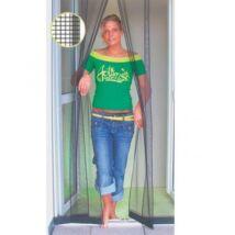 """Lamellás """"extra"""" szúnyogháló erkély ajtóra 125x240cm (antracit fekete)"""