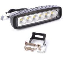 Autós LED munkalámpa 18W (6db LED)