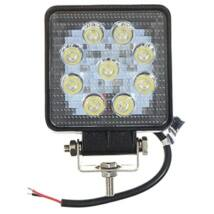Autós LED munkalámpa 27W (9db LED)