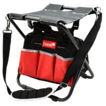 Műhelyszék szerszámtartó táskával, összecsukható