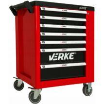Verke V33101 7 fiókos szerszámos kocsi oldalszekrénnyel
