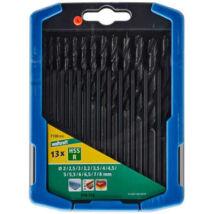 Spirálfúró készlet dobozban 13 db, HSS köszörült, Ø 2,2.5,3,3.2,3.5,4,4.5,5,5.5,6,6.5,7,8 mm