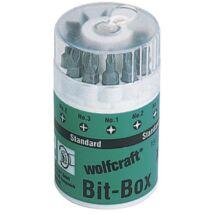 Wolfcraft Bit-Box bitkészlet Solid 10 részes