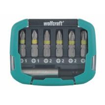 Wolfcraft Bit-box csavarozó bit készlet Solid, 7 részes