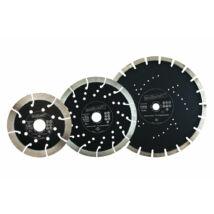 Gyémánt vágótárcsa profi, szegmentált 13mm, Ø115x22.2mm, sarokcsiszolóhoz