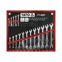 Yato Csillag-villáskulcs készlet 17 db-os (8-32) profi