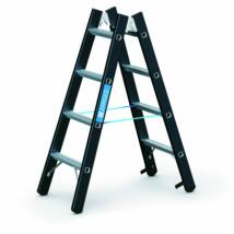 Zarges Megastep B kétoldalas állólétra, alu, 2x4 fokos, 1.20m