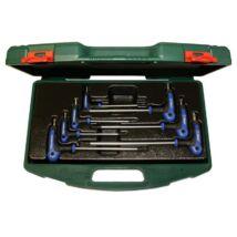 HANS T-nyelű TORX-TH kulcs készlet 7r. TH10-TH40 TTK-19 szerszámos ládában