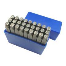 Betűbeütő készlet angol ABC 27r. 7,0mm