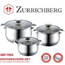 Zurrichberg ZBP-7082 Rozsdamentes acél edénykészlet, 6 részes