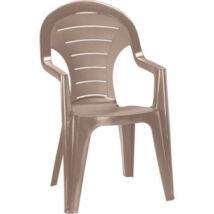 Allibert Bonaire kartámaszos műanyag kerti szék, cappuccino