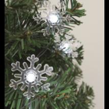 Dekoráció izzósorhoz, hópehely, 50 db, Ø5 mm-es LED-re