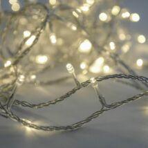 Toldható fényfüzér, meleg fehér, átlátszó kábel
