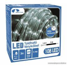 Toldható fénykábel, kültéri, 108 db LED, 3m