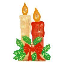 Világító karácsonyi ablakdísz gyertya 43cm