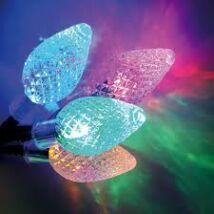 LED karácsonyi kristály fényfüzér színes (6,0m)