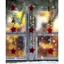 Karácsonyi szarvasos gyerekszoba ablakdísz (100x60cm)