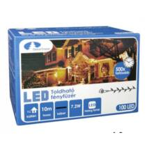 Kontakt LED fényfüzér, meleg fehér, 100 LED, 10 db toldható