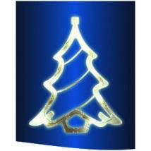 LED-es ablakdísz, karácsonyfa, 19cm, 4,5V