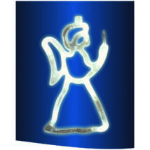 LED-es ablakdísz, angyal, 19cm, 4,5V