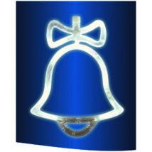 LED-es ablakdísz, harang, 19cm, 4,5V