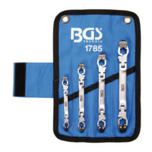 BGS-1785 Speciális racsnis csuklós fékcső kulcs készlet 4Részes 8-15mm