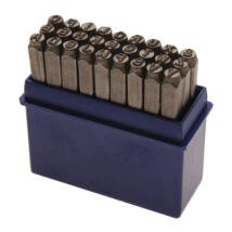 BGS-2033 Betűbeütő készlet 6mm-es A-Z (27db-os)