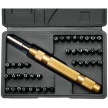 BGS-3043 Szám és betűbeütő készlet 600 mm