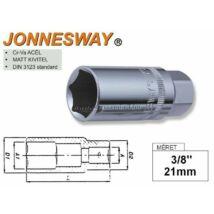 "Jonnesway Gyertyakulcs 3/8"" 21mm S17H3121"
