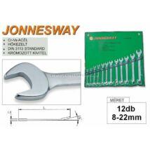 Jonnesway Profi Csillag-Villáskulcs Készlet 8-22mm / 12db-os