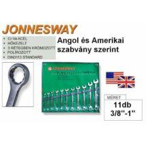 """Jonnesway Profi Coll Csillag-Villáskulcs Klt. 3/8""""-1""""  11db-os / W26411S"""