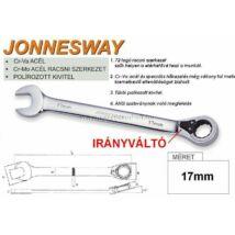Jonnesway Profi Ir.váltós Racsnis Csillag-Villáskulcs 17mm