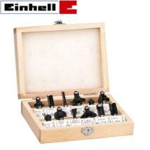 Einhell FS 12 felsőmaró készlet, 12db-os, fa doboz