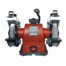 Extol kettős köszörűgép 520W, száraz, 200×16×25mm, (P36, P80), 2950 ford/perc, 19kg, lámpával