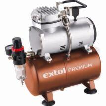 Extol olajmentes légkompresszor, 230V/150W, 6 bar, 23 l/perc, 3l tank, airbrush festéshez is használható
