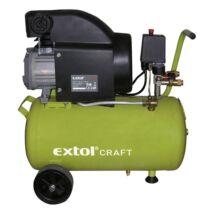 Extol olajos légkompresszor, 1500W, 24l tartály, 8 bar, beszívott:208l/min