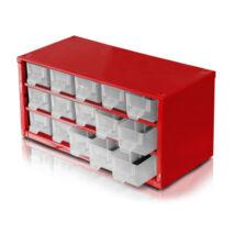 Csavartartó szortimenter - horgász doboz (fém) 15 rekeszes
