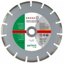 Gyémánttárcsa betonhoz téglához 230x22,23mm Dronco LT46