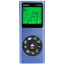 HOLDPEAK 3060S Digitális, lézeres távolságmérő, 0.03-60m, memória, terület/térfogat és háromszög