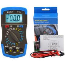HoldPeak 33D digitális multiméter (VDC, VAC, ADC, ellenállás, dióda, tranzisztor hFE teszt)