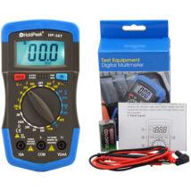 HoldPeak 36T digitális multiméter (VDC, VAC, ADC, ellenállás, hőmérséklet, dióda, hFE, szakadás)